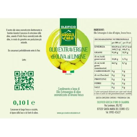 Extravergine aromatizzato al Limone bottiglia assaggio